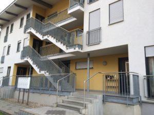 Treppenaufgang zu den Wohnungen